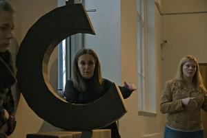 Leena Saarto im Studio des Turkuer Kunstmuseums